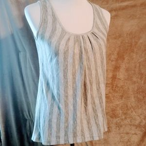 Striped gray tank Small Mossimo